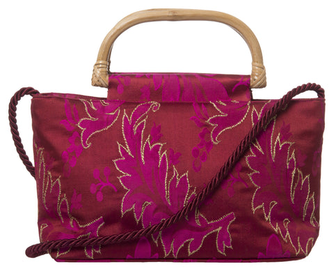 Pink Color Pure Silk Women's HandBag - VARASIDDHI-HB7