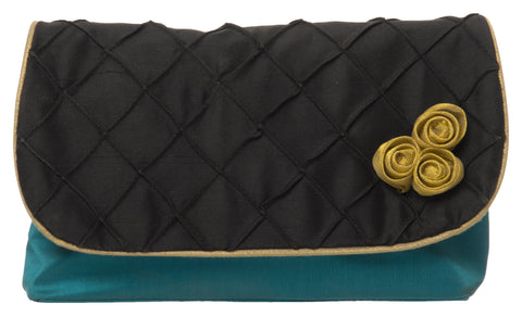 Black Color Pure Silk Women's HandBag - VARASIDDHI-HB8