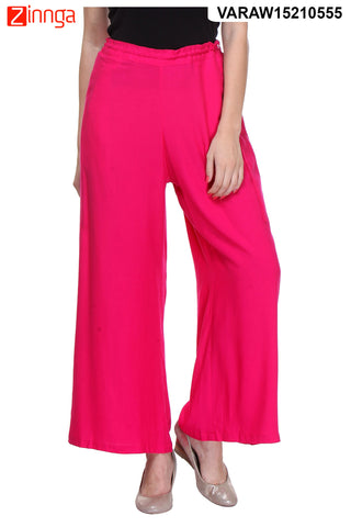 PINK COLOR RAYON PLAZO - VARAW15210555