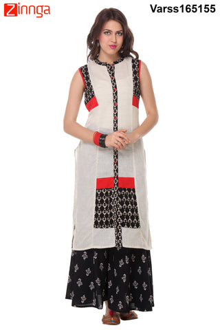 Off White Color Flex Stitched Kurti  - VARSS165155