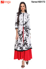Blue and White Color Rayon Kurti