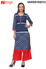 Multi Color  Cambric Kurti