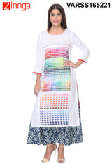 White Color Rayon Kurti