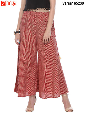 RED  COLOR COTTON PLAZO - VARSS165230