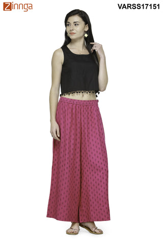 PINK COLOR RAYON PLAZO - VARSS17151