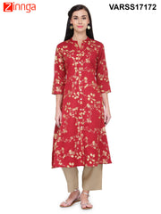 Maroon Color Rayon Stitched Kurti