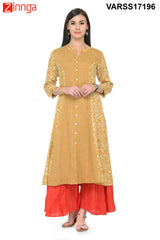 Yellow Color Rayon Stitched Kurti