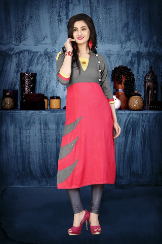 Multi Color Heavy Rayon Stitched Kurti - VAT299A