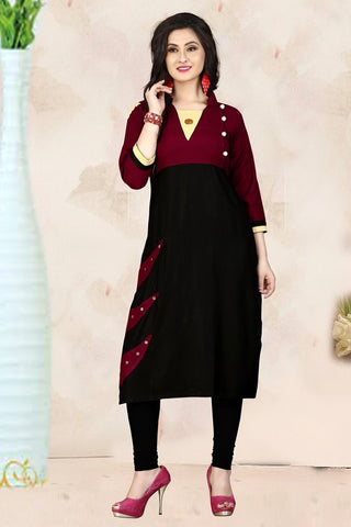 Multi Color Heavy Rayon Stitched Kurti - VAT300A