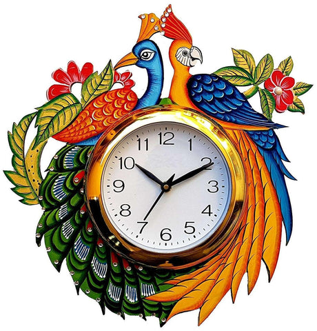 Multi Color Wooden Analog Wall Clock - VB-Heritage-Wall-Clock-004