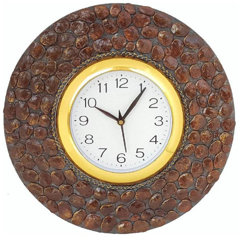 Brown Color Wooden Analog Wall Clock - VB-Heritage-Wall-Clock-005