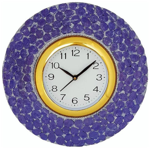 Blue Color Wooden Analog Wall Clock - VB-Heritage-Wall-Clock-006