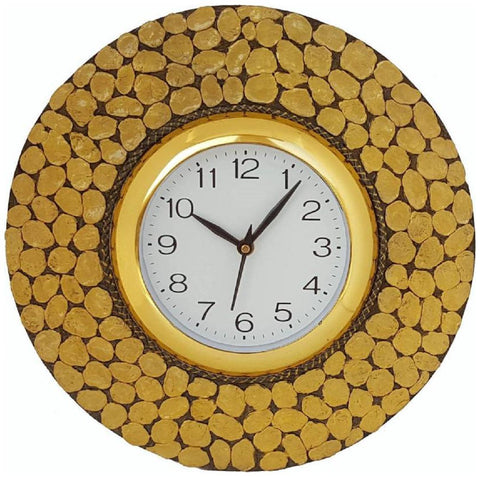 Yellow Color Wooden Analog Wall Clock - VB-Heritage-Wall-Clock-007