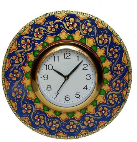 Multi Color Wooden Analog Wall Clock - VB-Heritage-Wall-Clock-028