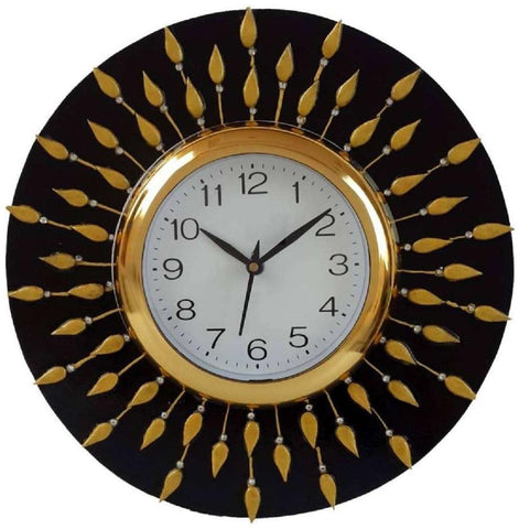 Black Color Wooden Analog Wall Clock - VB-Heritage-Wall-Clock-066