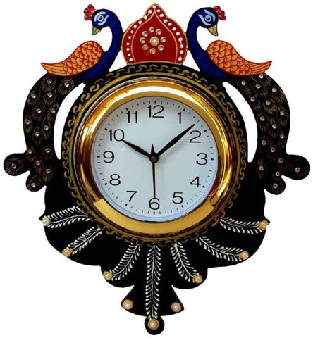 Black Color Wooden Analog Wall Clock - VB-Heritage-Wall-Clock-070