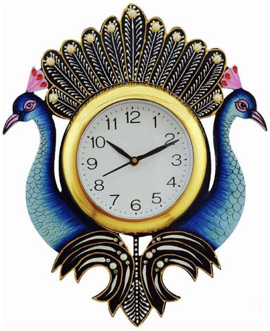 Blue Color Wooden Analog Wall Clock - VB-Heritage-Wall-Clock-110