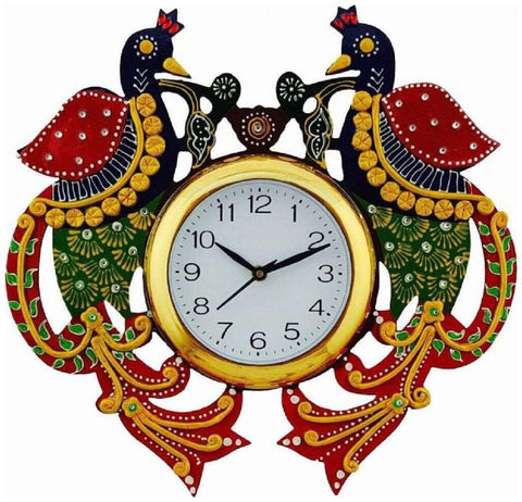Multi Color Wooden Analog Wall Clock - VB-Heritage-Wall-Clock-130