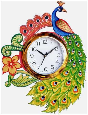 Multi Color Wooden Analog Wall Clock - VB-Heritage-Wall-Clock-171