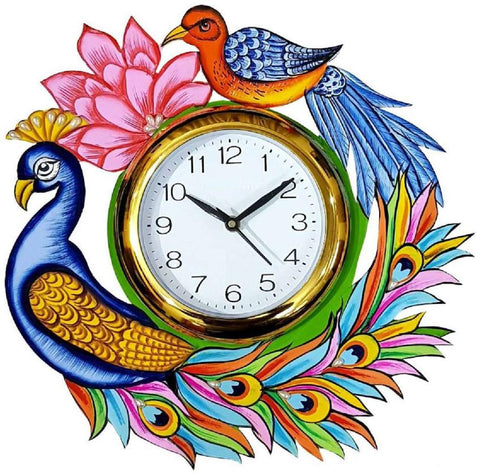 Multi Color Wooden Analog Wall Clock - VB-Heritage-Wall-Clock-173