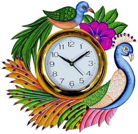 Multi Color Wooden Analog Wall Clock - VB-Heritage-Wall-Clock-175