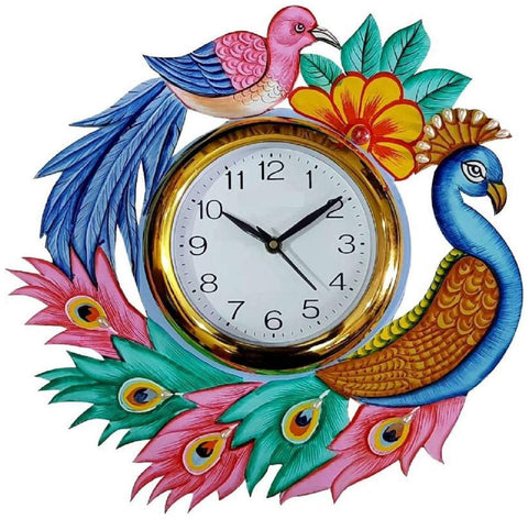 Multi Color Wooden Analog Wall Clock - VB-Heritage-Wall-Clock-176