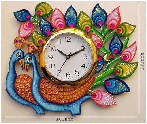Multi Color Wooden Analog Wall Clock - VB-Heritage-Wall-Clock-205