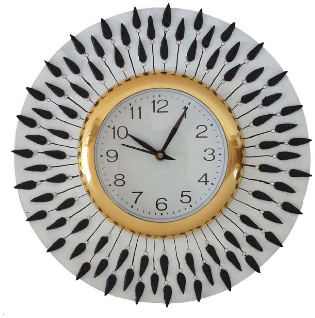Buy White Color Wooden Analog Wall Clock