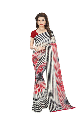 Multi Color Georgette Saree - VDBLJK2104