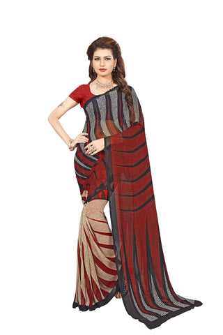 Multi Color Georgette Saree - VDBLJK2150