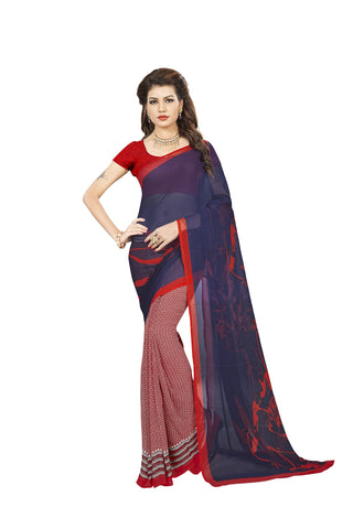 Blue Color Georgette Saree - VDBLJK2151