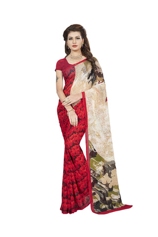 Multi Color Georgette Saree - VDBLJK2154B