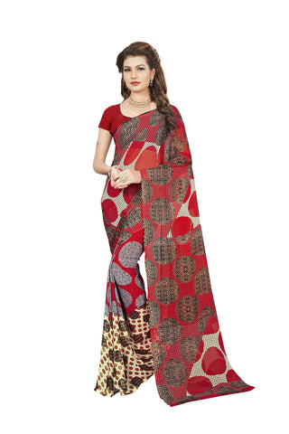 Multi Color Georgette Saree - VDBLJK2154C