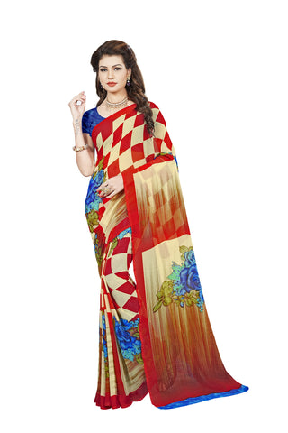 Multi Color Georgette Saree - VDBLJK2154D
