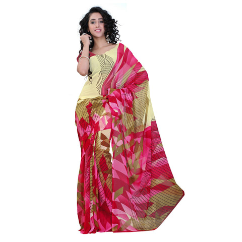 Multi Color Georgette Saree - VDBLJK2197