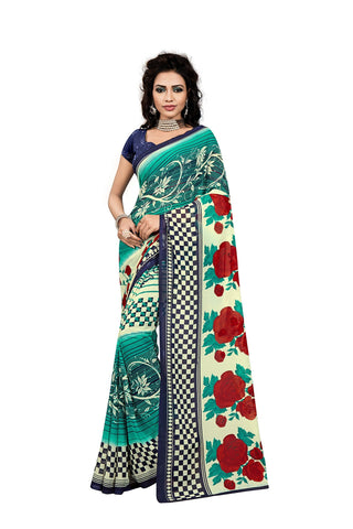 Multi Color Georgette Saree  - VDDHN322