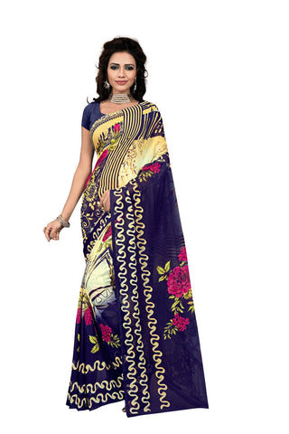 Multi Color Georgette Saree  - VDDHN323