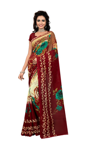 Multi Color Georgette Saree  - VDDHN324