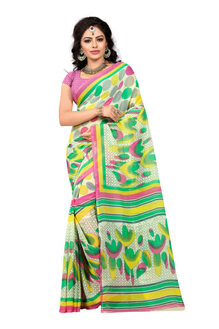 Multi Color Georgette Saree  - VDDHN330B