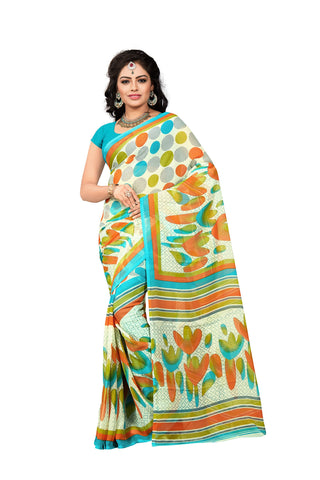 Multi Color Georgette Saree  - VDDHN330D