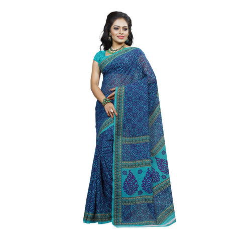 Turquoise Color Georgette Saree  - VDDHN336B