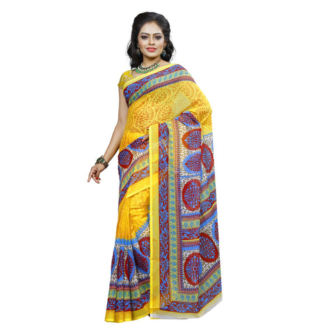 Yellow Color Georgette Saree  - VDDHN337C