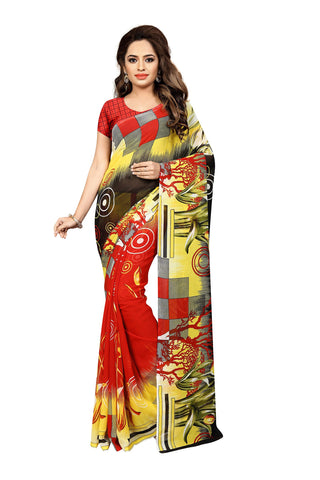 Multi Color Georgette Saree  - VDDHN338
