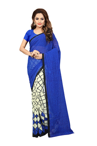 Blue Color Georgette Saree  - VDDHN339