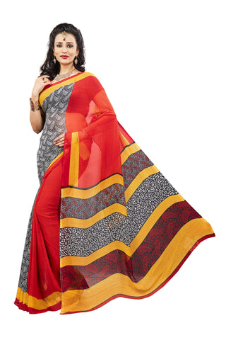 Multi Color Georgette Saree -VDJH2066