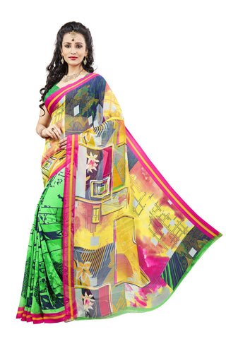 Multi Color Georgette Saree -VDJH2076