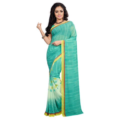 Green Color Georgette Saree - VDKML2222
