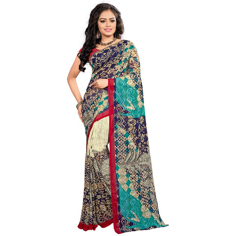 Multi Color Georgette Saree - VDKML2223