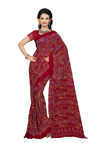 Red Color Georgette Saree - VDKML2224