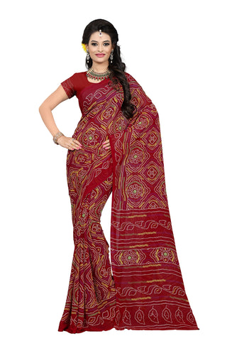 Red Color Georgette Saree - VDKML2225